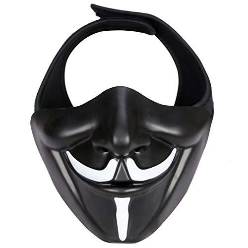 YANQIN Kabuki Mscara, Casco tctico para Paintball, diseo de Calavera, Transpirable, para Caza, para Hombre, Airsoft, Militar, Halloween, Fiesta