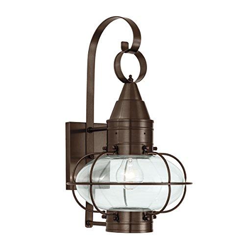Norwell Lighting 1512 Medium Wall Mount Outdoor One Light Classic Onion (Bronze w/Clear Glass)