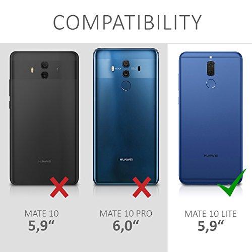 kwmobile Huawei Mate 10 Lite Hülle - Handyhülle für Huawei Mate 10 Lite - Handy Case in Mond Design Hellgrau Schwarz - 5