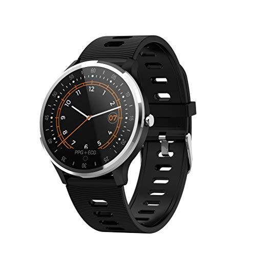 LQIAN A9 Unisex-Allround-Multisportuhr Bluetooth mit GPS- und Handgelenk-Pulsmessung, Lauf- und Multisporttraining, wasserdichte, leichte Schlafüberwachungs-Smartwatch
