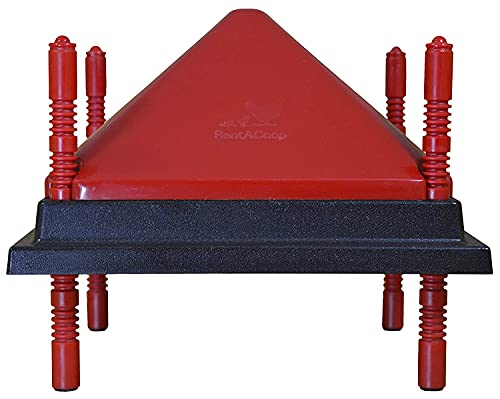 RentACoop (10' x 10') Chick Brooder Heating Plate & Anti-Roost Cone Set - Warms Up to 15 Chicks - 15 Watts