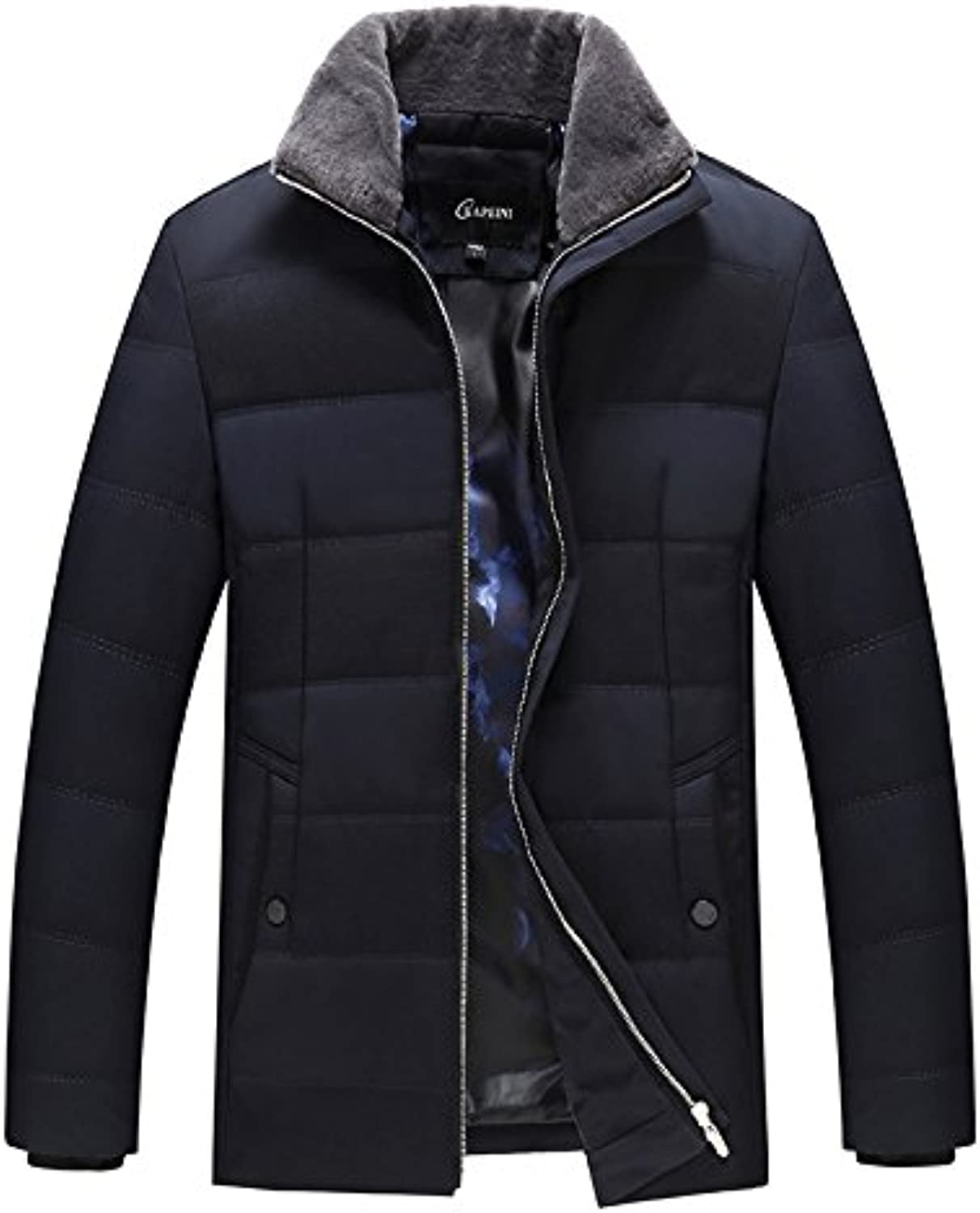 Lsm-Coat Men's Winter Station Collar Warm Quilted Padded Puffer Jacket Outwear Coat