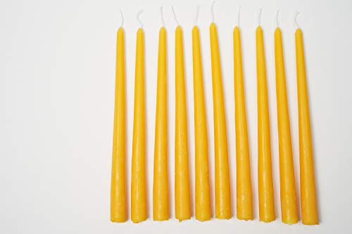 Imkerei Freese 10 tapered candles long (approx. 29 cm x 2.5 cm) made from 100% beeswax from beekeepers.