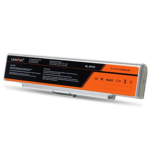 LENOGE Ersatz Laptop Akku Für Sony VGP-BPS9 VGP-BPS9A/B Silber VGP-BPS9/B VGP-BPS10 VGP-BPS9/S BPS9A3 5200mAh 11.1v
