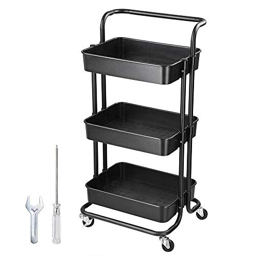 Eden's box 3 Layers Trolley Cart Slim Rolling Opslag Rack Trolley Wheels Salon Beauty Spa