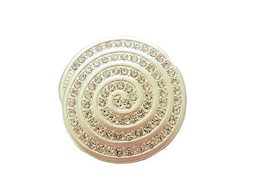 Brosche Magnetbrosche Spirale Schal Clip Bekleidung Poncho Taschen Stifel Textilschmuck Silber Strass