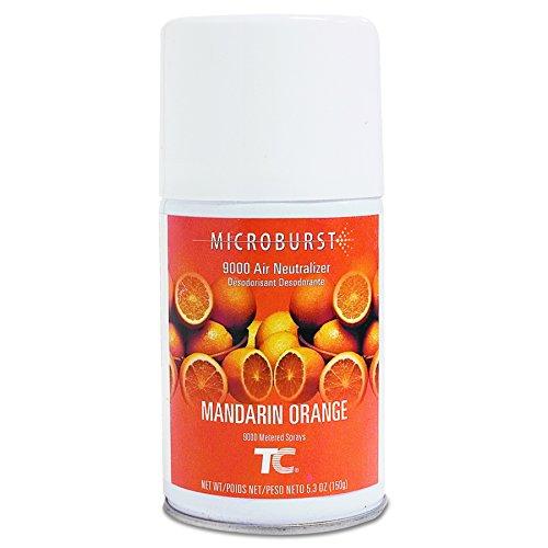 Rubbermaid Commercial 402093 Microburst 9000 Air Freshener Refill, Mandarin Orange, 5.3 oz, Aerosol (Case of 4)