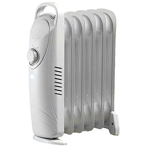 Sichler Haushaltsgeräte Kleiner Radiator: Mobile 600-Watt-Elektroheizung/Öl-Radiator-Heizkörper (Mobile Elektrische Heizkörper)