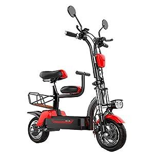 Elektrofahrrad Faltbares E-Bike für Erwachsene, Faltrad 580W, Klapprad Pedelec mit Lithium-Akku 48V/10A, Elektrofahrräder,37Km/h, Reichweite: 45 km, Rot