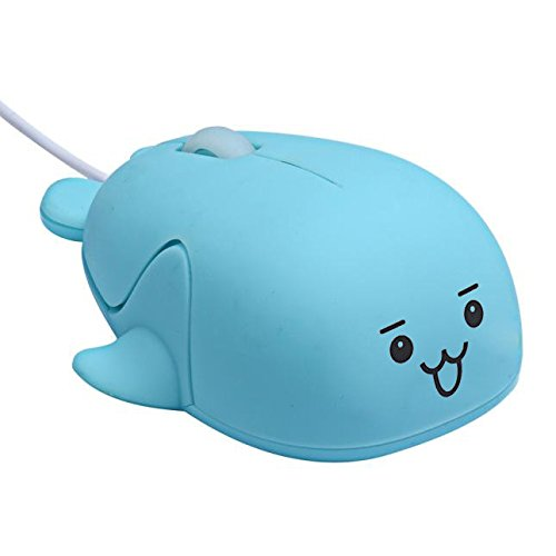 USB Wired Mice 1200 DPI Optical Gaming Game Mouse for Computer PC Laptop Gamer (Blue)