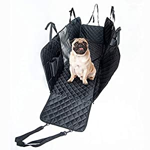 KATYX Dog Car Seat Cover for Back Seat, Extender Waterproof Hammock Scratchproof Dog Car Backseat Protector with Mesh Durable Pet Seat Covers for Cars SUVs Protection Against Dirt and Pet Fur.