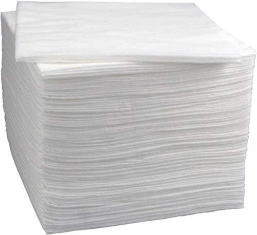 500PC toallas desechables Peluquería/Estética Toallas Desechables 40 * 80 cm Toallas de celulosa (BLANCO)