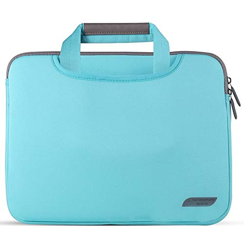 ZHHk Simple Design Diving Fabric Portable Laptop Handbag Lightweight Ultra-thin (Color : Blue, Size : 15inch)