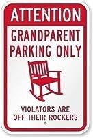 活動標識キャンプ場標識Parksign祖父母駐車場違反者だけがロッカーから離れている標識、店舗標識ガレージ用アルミニウム標識屋内および屋外での使用が簡単金属標識