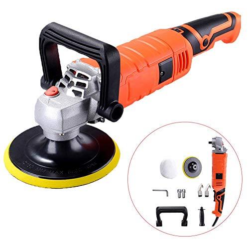 lingzhuo-shop 1580 Watt 220 V mini polijstmachine huis vloer krasreparatie ABS instelbare snelheid slijpen elektrisch gereedschap zwart + oranje