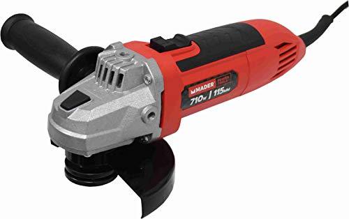 Mader Power Tools 63803 Amoladora 710W, 115m, Arranque Suave, Mango rotativo