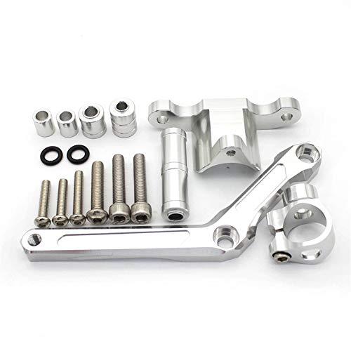 NVFED La dirección de Aluminio CNC estabiliza el Soporte de Montaje de la amortiguadora de Motocicletas para Benelli BN600 BJ600 BN BJ 600 (Color : Silver)