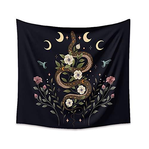 Tarot Card Moon Tapiz Colgante de pared Adivinación Constelación Hippie Tapiz Manta de pared Fondo Tapiz de tela A2 180x230cm