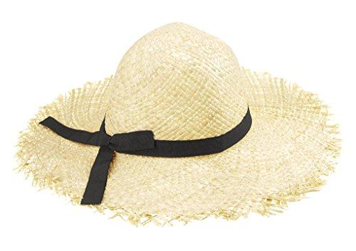 Fablcrew Chapeau de Soleil Filles Chapeaux de Paille d/ét/é Enfant et Petit Sac Anti-UV Pliable Bonnet de Soleil avec D/écoration Fleur pour Plage Voyage Randon/ée 3 /à 7 Ans