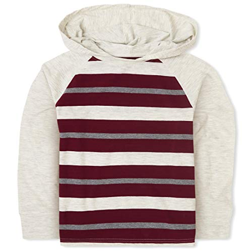 The Children's Place Jungen Stripe Raglan Hoodie Hemd, Redwood, X-Small