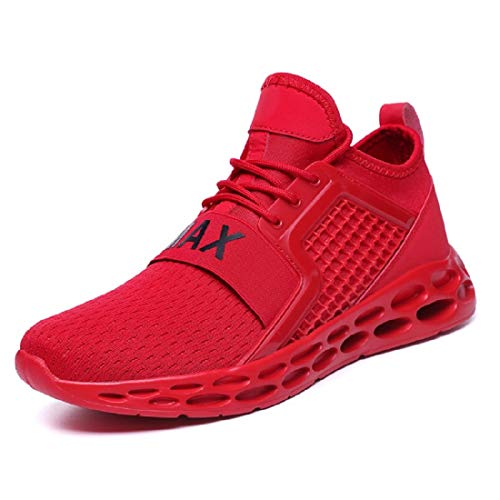 GSLMOLN Men's Running Mesh Ultra Lightweight Breathable Casual Sport Shoes Springblade Athletic Walking Gym Shoe Fashion Sneakers (Red, 11)