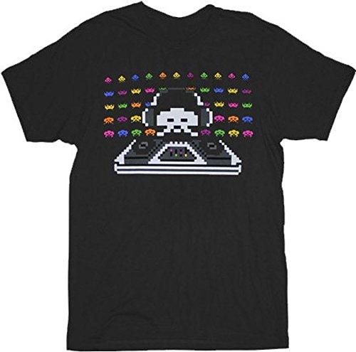 Space Invaders Cosmic DJ Black Adult T-shirt, M, L, XXL