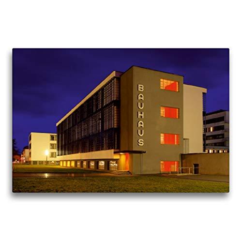 Premium Textil-Leinwand 75 x 50 cm Quer-Format Bauhaus | Wandbild, HD-Bild auf Keilrahmen, Fertigbild auf hochwertigem Vlies, Leinwanddruck von LianeM