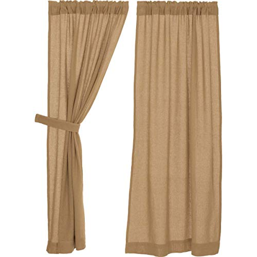 Long Burlap Curtain