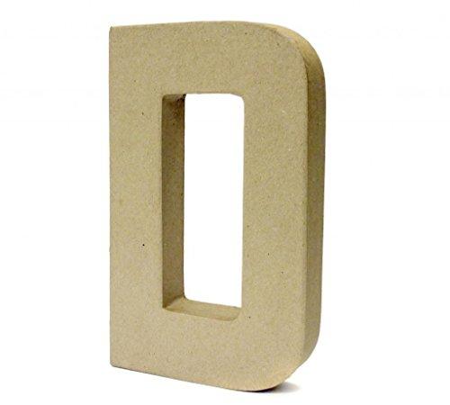 Papier Paper Mache Large Letters 20.5cm - Cardboard Craft (D)