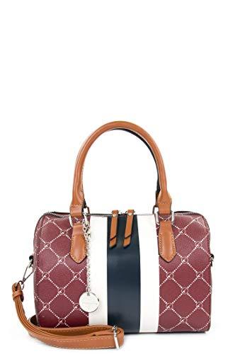 Tamaris Bowlingbag Anastasia Strips 30713 Damen Handtaschen Print