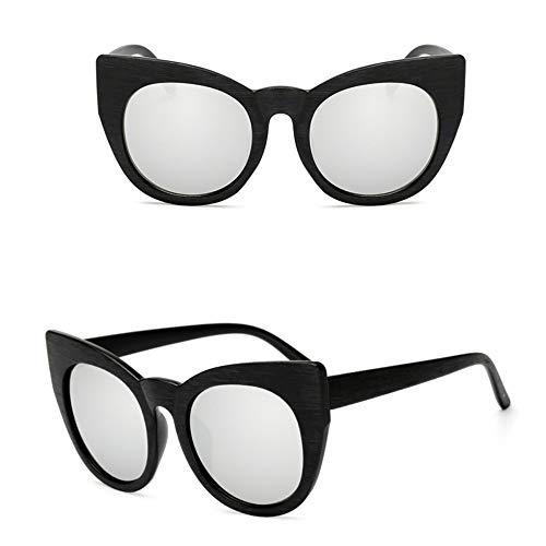 WDDYYBF zonnebril, zonnebril vrouwen mannen kat oog snoepjes Lens Lady zonnebril klassieke vintage goggle uv400 zwart wit