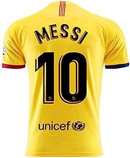 BADAWO 2019-2020 Barcelona #10 Messi T Shirt Home Mens Soccer Jersey Red/Blue