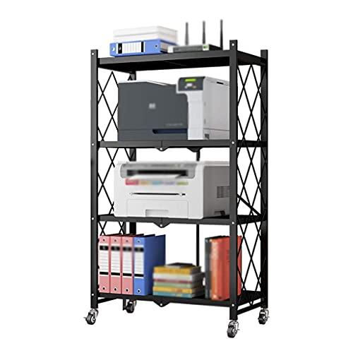 WBJLG Soportes de Escritorio para impresoras Soporte para Impresora de 4 Capas Estante para Impresora móvil , Máquina de fax para Oficina Soporte para escáner , Vajilla de Cocina Estante de almace