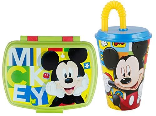 CM Disney Wiederverwendbarer Becher, 430 ml und Sandwichmaker Mickey Mouse