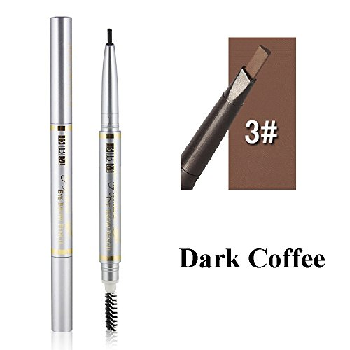 Eyeliner Potlood, Vrouwen Tool Cosmetische Schoonheid Wenkbrauw Potlood Pen Make-up Tool Waterdicht met Borstel Donkere koffie