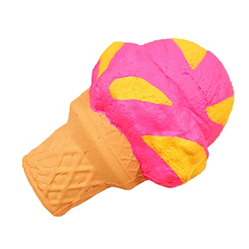 Digood Squishies Sweet Cake Ice Cream Toys Scented Vent Charms Slow Rising Kawaii Kids Adults Lovely Stress Relief Toy (Flat ice Cream)