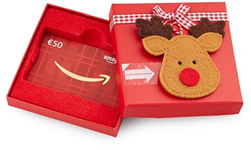 Amazon.de Geschenkkarte in Geschenkbox - 50 EUR (Rentier)