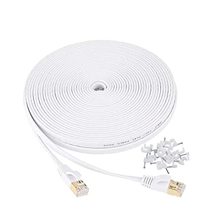 200 ft Cat5 Cable CAT5E RJ45 LAN Network Ethernet Router Switch White Patch cord