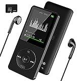 MP3 Player, Wodgreat Kinder MP3 Player mit 32GB SD Karte Verlustfreier Sound Musik Player Eingebauter Lautsprecher mit FM Radio Video, 30 Stunden Wiedergabe Speicher Erweiterbar bis 128 GB (Schwarz)