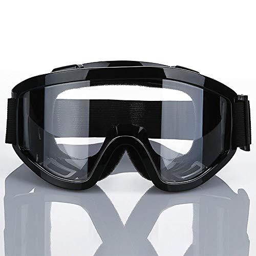 anruo Transparant anti-condens stofdicht groot skimasker bril skisneeuw heren en dames skibril