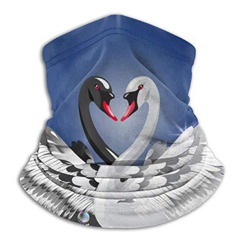 QDAS Mannen Vrouwen Elegante Zwarte Witte Zwanenhals Gaiter Warmer Gratis UV Haarband voor Vissen Wandelen Fietsen