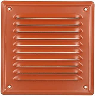 KOTARBAU - Rejilla de ventilación 165 x 165 mm, enroscable, lacada, rejilla de ventilación para chimenea, color rojo ladrillo, protección contra insectos, resistente a la corrosión