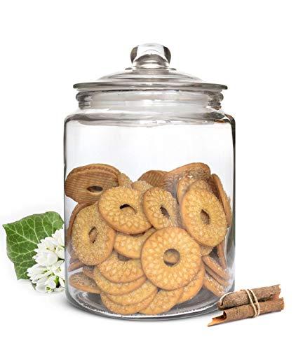 Sendez Vorratsglas 6L mit Deckel Vorratsgefäß Glasbehälter Aufbewahrungsglas Bonboniere Keksdose Einmachglas