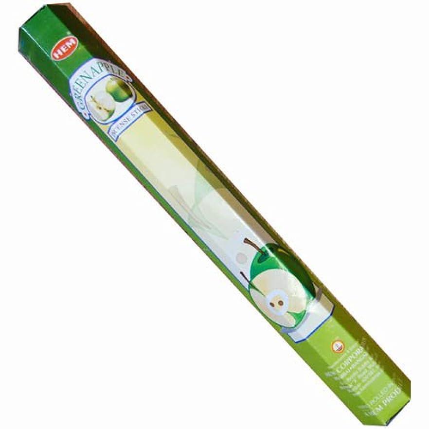 明らかに心理的にお金【AROMA】スティックお香/インセンス/六角香:グリーンアップル(HEM社)