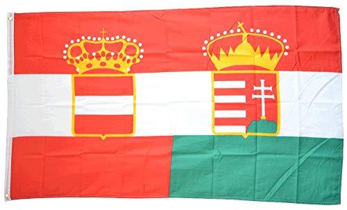 Flaggenfritze® Flagge/Fahne Österreich-Ungarn Handelsflagge 1867-1918 - 90 x 150 cm