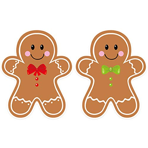 Gingerbread Cutouts 36Pcs for Candy Party Decoration Classroom Bulletin Board Decoration6'