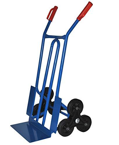 TRESTLES S01HS Blau Sackkarre | Treppensteiger | Sternräder | Stahlgestänge | pannensicheres Rad | 250 kg Tragkraft | Made in EU