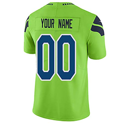 Custom Stitched Football Jerseys Athlete's Uniforms Embroidered Shirts for Men Women Kids Personalized Team Name Number (S_Seahawk@)