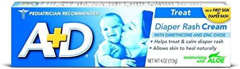 A D Zinc Oxide Diaper Rash Cream with Aloe 4 oz Pack of 3 product image