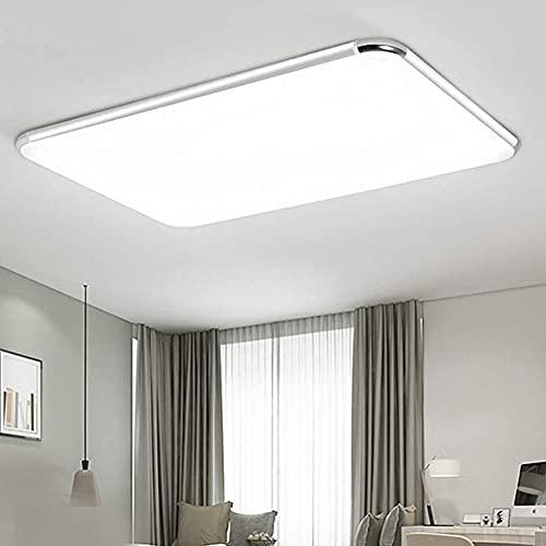 JINPIN 36W 64W 72W Luces de techo LED ultradelgadas regulables Adecuadas para el pasillo Dormitorio Sala de estar Cocina Baño Iluminación Lámpara (72W regulables)